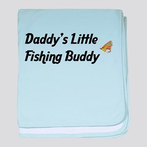 Daddy's Little Fishing Buddy baby blanket